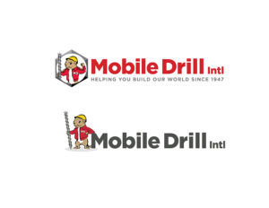 """Mobile Drill – MEK creative professionals took an old """"gopher"""" logo of a major American manufacturer and created a 21st century brand that retained key elements. It remains popular with international and American customers alike."""