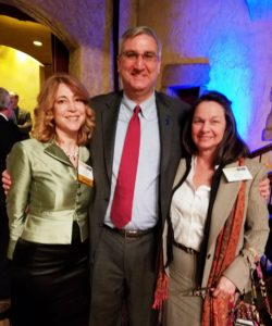 Indiana Governor Eric Holcomb with MEK principal Jamie Snyder at Ann Compton ABC News address